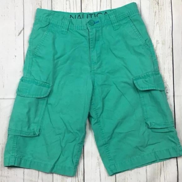 aeaa332f4 Nautica Bottoms | Boys Cargo Shorts 14 Green | Poshmark